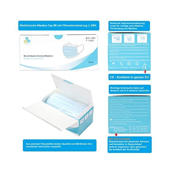 Medizinische-Mundschutz-Masken-Mund-Nasenschutz-EU-Norm-EN14683-Typ-IIR-OP-Masken-3-Lagig-einweg