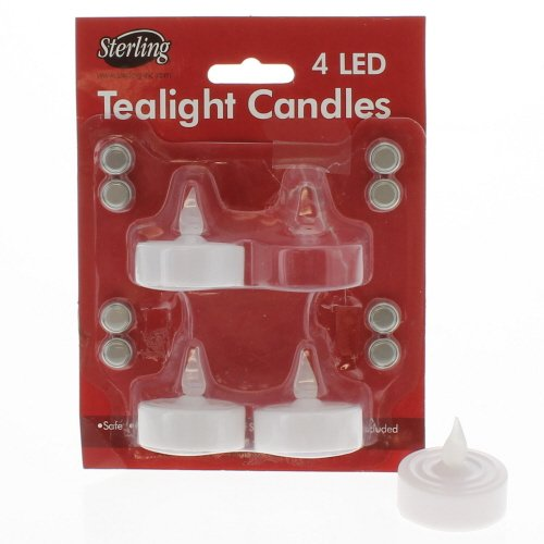 4 Pack of LED Tealight Candles