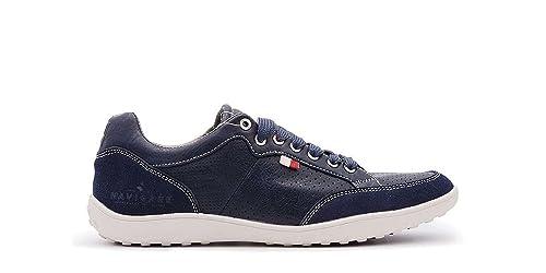 4d6e3f6a4d760b Navigare Sneakers Uomo Blu Pelle: Amazon.it: Scarpe e borse