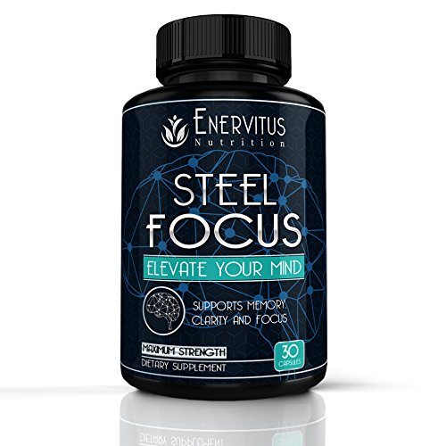 Super-Strength-Natural-Brain-Booster-Nootropic-Supplement-to-support-Focus-Energy-Memory-Mental-Clarity-High-Quality-Formula-of-Ingredients-St-Johns-Wort-Ginkgo-Biloba-More-30-Capsules