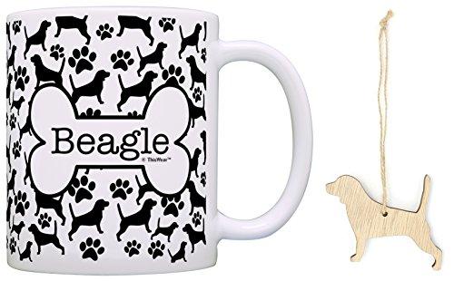 Beagle Christmas Ornament & Beagle Coffee Mug Tea Cup Bundle Dog Lover Stocking - Christmas Stocking Beagle