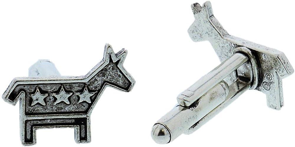 Silver Toned Donkey Cufflinks