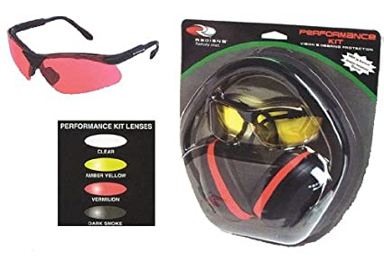 1ecdb402ff1 Radians Performance Kit With Silencer Ear Muff and Revelation Shooting  Glasses (Amber)