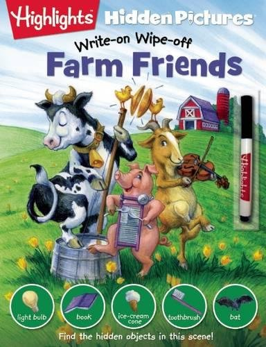 Farm Friends (Highlights™ Write-On Wipe-Off Hidden Pictures®)