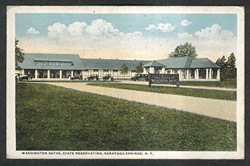 Washington Baths State Reservation Saratoga Springs NY postcard 1922
