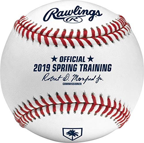 Rawlings Official 2019 Spring Training Florida FL Leather Official MLB Baseball - New in Rawlings Box