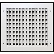 """14"""" x 10"""" ADJUSTABLE DIFFUSER - Vent Duct Cover - Grille Register - Sidewall or Cieling - High Airflow"""