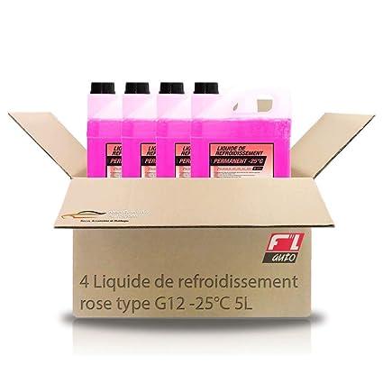 Pack de 4 Refrigerante Rosa Tipo G12-25 °C 5L - Fl Auto ...