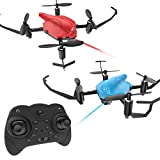 Cheap Holy Stone HS177 RC Battle Drones with Infrared Emission RTF Quadcopter with 2.4GHz 4 Channel 6-Axis Gyro and Altitude Hold Function, Headless Mode and Emergency Stop, Color Red and Blue, Quantity 2