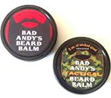 Facial Hair Competition - Bad Andy's Beard Balm Combo Pack - Original and TACTICAL - both all natural beard balms to soften, condition and help control facial hair. Original scented and Tactical unscented.