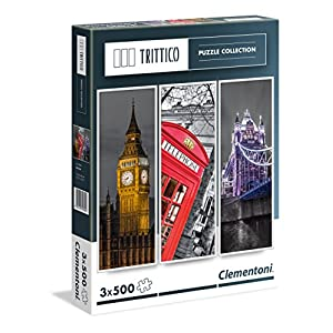 Clementoni Paris Puzzle Trittico Multicolore 3 X 500 Pezzi 39306
