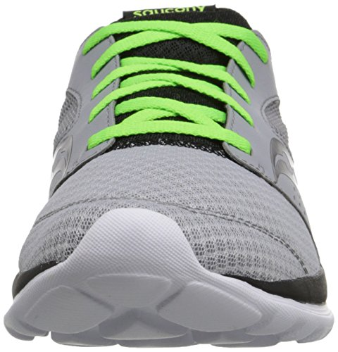 Saucony Uomo Kineta Relay Running Shoe, Grey/Nero,10 M US