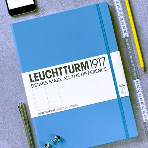 Leuchtturm1917 Medium A5 Dotted Hardcover Notebook [Nordic Blue] - 249 Numbered Pages