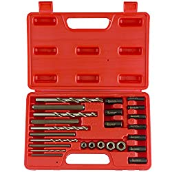 Neiko 04200a Screw & Bolt Extractor Kit, 25 Piece   Drive Nuts, Drill Bits & Drill Guides