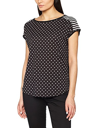 Esprit Women's T-Shirt with Patterns Black in Size M Esprit Womens Tee