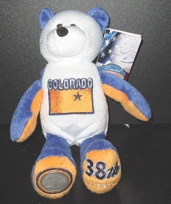 1 X Limited Treasures Colorado State Coin Bear