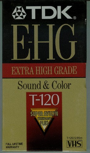 TDK E-HG Extra High Grade T-120 Video Cassette Tapes - Super Avilyn Technology PLUS