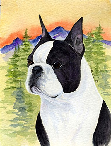 Caroline's Treasures SS8187CHF Boston Terrier Flag Canvas, Large, Multicolor