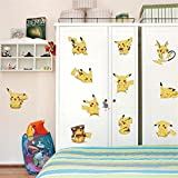 Removable Pokemon DIY 11pcs Cute Picachu Peel Wall Sticker Kid Child Baby Nursery