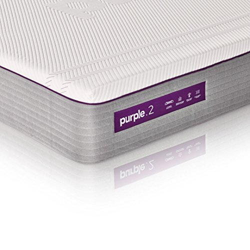 """The New Purple Mattress, with Soft 2"""" Smart Comfort Grid Pad and Cooling Comfort-Stretch Cover (Full)"""