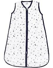 Yoga Sprout Unisex Baby Safe Sleep Wearable Muslin Sleeping Bag, Moon Muslin, 18-24 Months