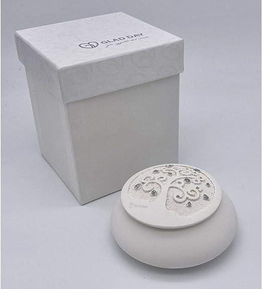 Publilancio Srl Caja Resina con Árbol de la Vida Blanco 10x5 cm Made IN Italy: Amazon.es: Hogar