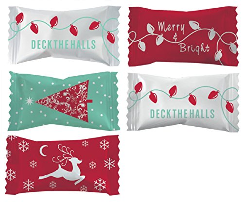 Promotional Candy (Party Sweets Christmas Assortment Buttermints by Hospitality Mints, Appx 300 mints, 7-Ounce Bags (Pack of 6))