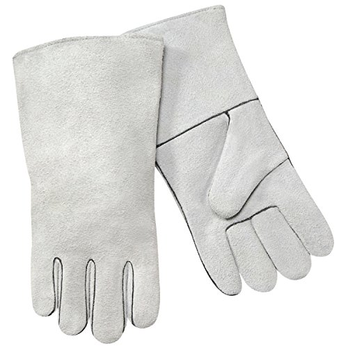 Steiner 02208-L Welding Gloves, Gray Super Economy Shoulder Split Cowhide, Large (12-Pack) (Welding Gloves Economy)