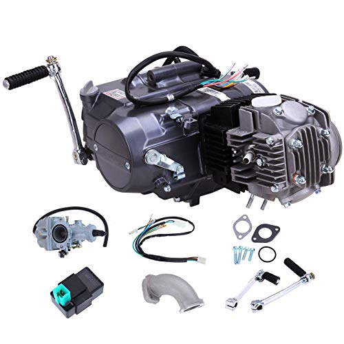 125cc 4-Stroke Engine Motor, Single Cylinder Air-Cooled clutch operated by hand Motor Engine with Wiring Harness for Honda CRF50 Z50 CRF70