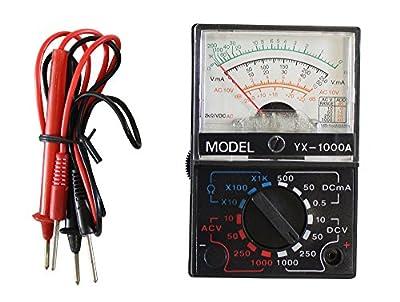 ToolUSA Pocket-size 4-function 13-range Analog Multimeter With 1.5v/9v Multi Tester - Yx-1000a: TM-70000