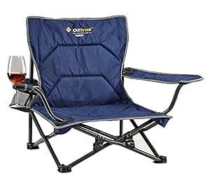 2 X Oztrail Festival Folding Camping Picnic Beach Chair
