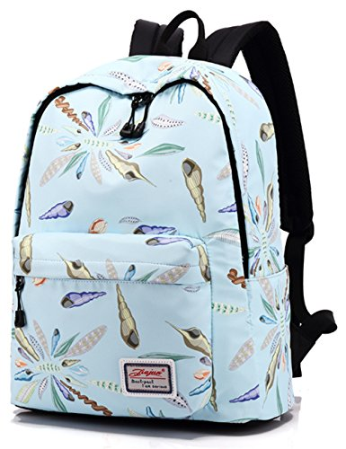 c20e9b27a576 Galleon - Leaper Cute Conch Pattern Backpack College Bags Women Daypack  Travel Bag Blue
