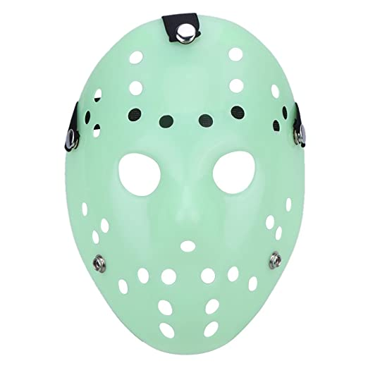Diamondo Halloween Masks Mascara Dance Gathering Jason Mask Horror Funny Mask (Luminous)
