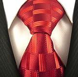Neckties By Scott Allan - Red Geometric Men's Tie