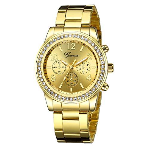 XBKPLO Watches Fashion Business Mechanical Pave Crystal Bezel Analog Wrist Quartz Watch Fine Wild Stainless Steel Strap Bracelet Gift Jewelry