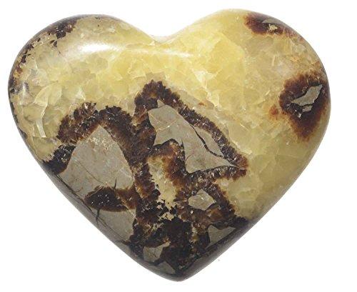 Dragon Stone Heart Specimen Touch Stone Massage Pebble Septarians 3 (Septarian Heart)