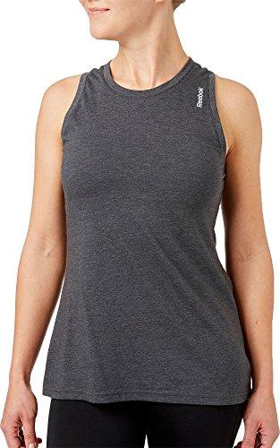 Reebok Women's Heather Jersey Tank Top, (Dhg Single Dye, ()