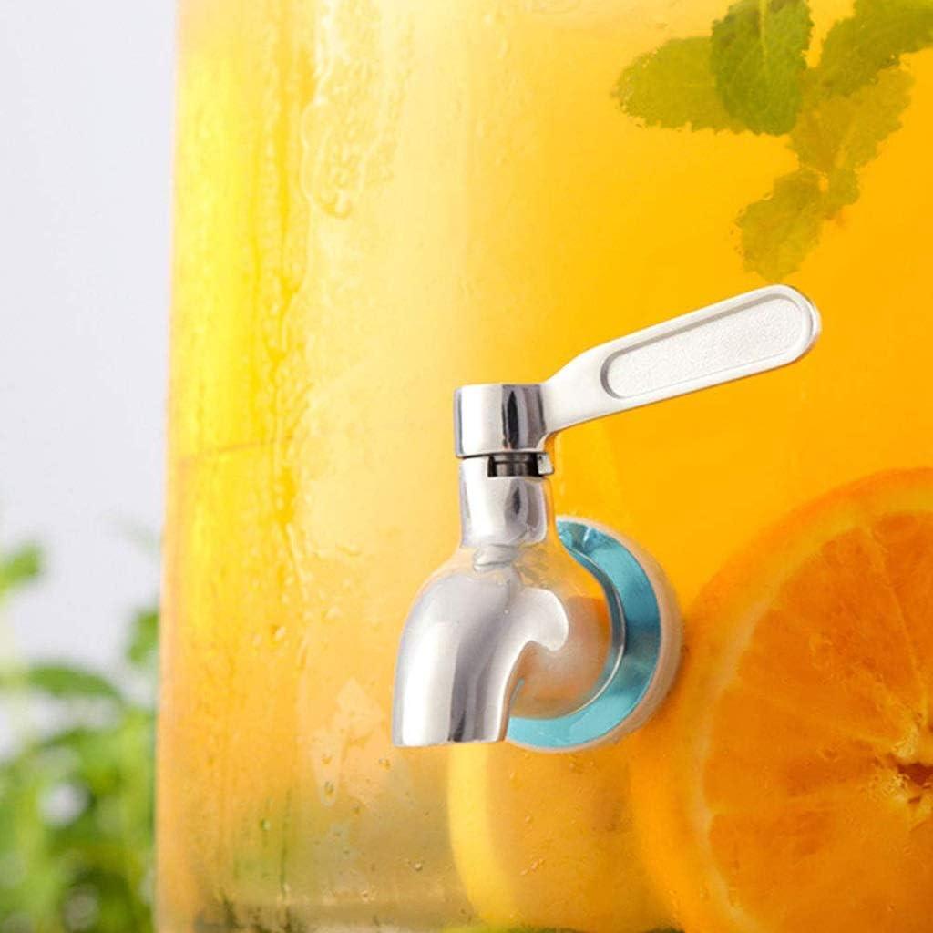 ZRHZB Bebidas del dispensador de Bebidas de Cristal dispensador con Tap 1,5 litros Tarro de la Bebida for Bebidas frías ponche Agua Helada Durante Partes: Amazon.es: Hogar