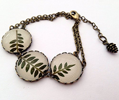 leaf-bracelet-nature-jewelry-terrarium-jewelry-nature-bracelet-real-leaf-jewelry-green-leaf-jewelry-
