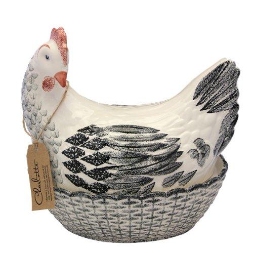 Fairmont & Main Charlotte Hen Egg Basket, Black