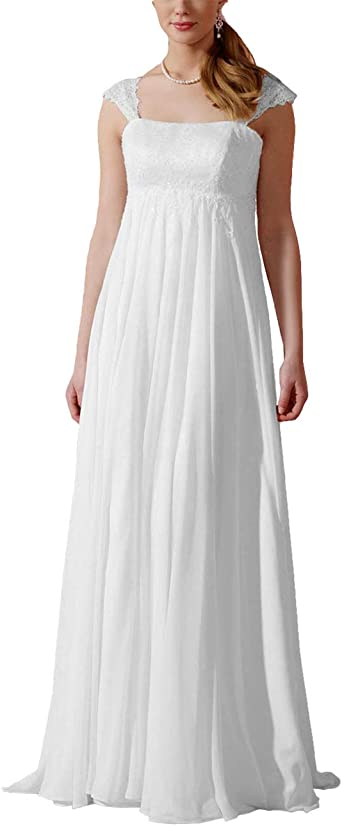 HUINI Robe de Soirée Longue à Bretelles Mousseline