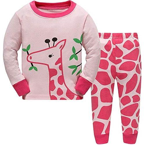 Jomago Little Girls Christmas Outfit Long Sleeve Striped Shirt Cotton Pants 2 Pcs Pjs