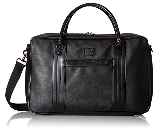 Fred Perry Men's Saffiano Overnight Bag, Black by Fred Perry
