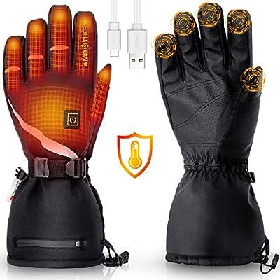 USB Electric Heated Gloves Waterproof Thermal Winter Motorcycle Fishing Skiing