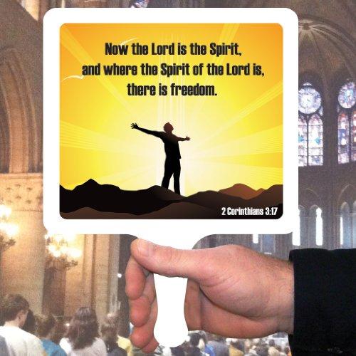 Church Fans - Set/12 Hand Held Fans 2 Corinthians 3:17 ()