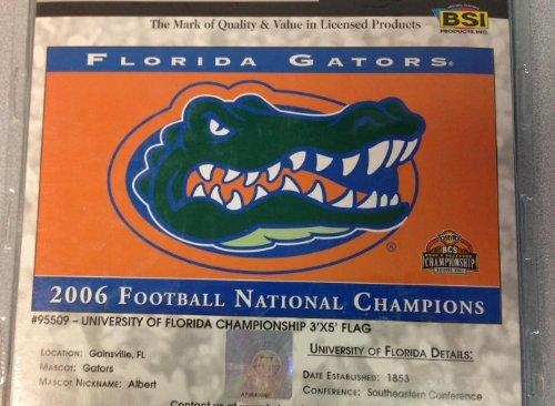 University of Florida Gators Flag 2006 Football Champions 3x5 Collector Item - Florida Gators 2006 Football
