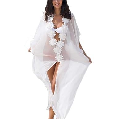 MuRstido Pareo Plage Mousseline de Soie Femme Cache Maillot de Bain Bikini  Cover Up  Amazon.fr  Vêtements et accessoires 2327d989d09