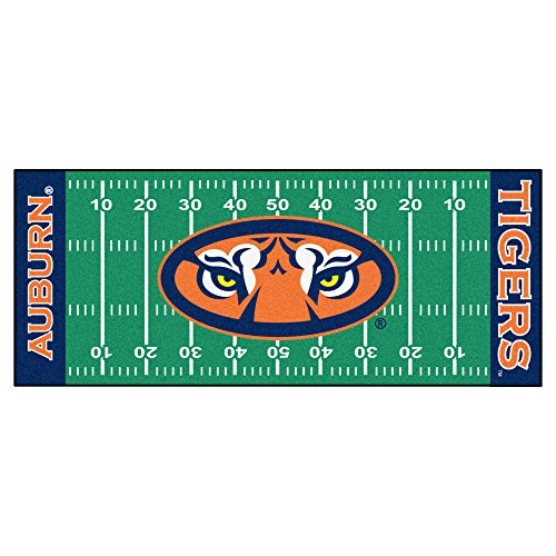 Tigers Runner Football (Fanmats NCAA Auburn University Tigers Nylon Face Football Field Runner)