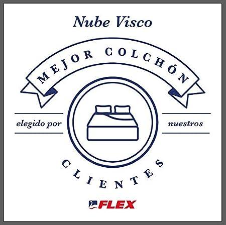 FLEX Nube Visco Gel - Colchón muelles ensacados, 180 x 200 cm: Amazon.es: Hogar