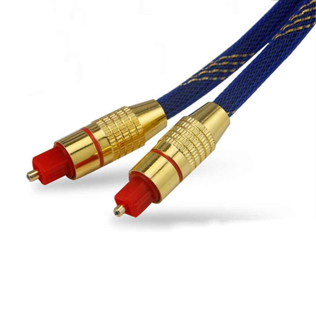 Aotejia Cable de audio Toslink de alta velocidad Cable de fibra óptica digital de 1 m OD 5.0 ??macho-macho cabeza de oro: Amazon.es: Electrónica
